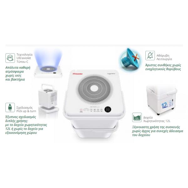 νέος αφυγραντήρας inventor CB-WUI-20L(41db,280watt,ιονιστής,wifi)