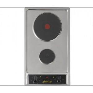 Αυτόνομη ανοξείδωτη ηλεκτρική εστία Fancy 0138(1500W - 450W)