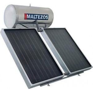 ηλιακός θερμοσίφωνας Maltezos MALT SAC 200lt/2.7m² Inox Διπλής Ενέργειας