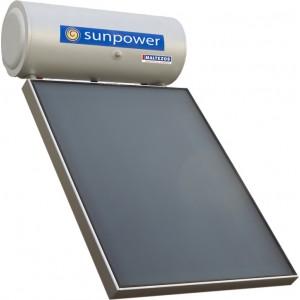ηλιακός θερμοσίφωνας Maltezos Sunp 160lt/1.95m² Glass Διπλής Ενέργειας