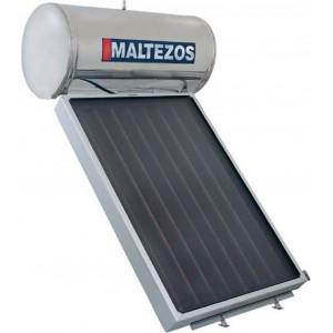 ηλιακός θερμοσίφωνας Maltezos MALT SAC 160lt/1.95m² Inox Διπλής Ενέργειας