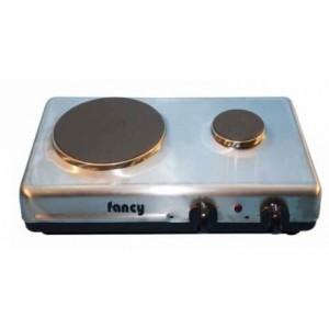 Επιτραπέζια ηλεκτρική εστία 2 ζωνών (1500w/450w) Fancy 0193 inox