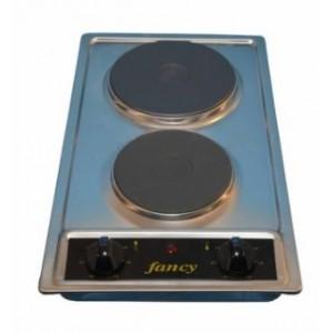 Αυτόνομη ανοξείδωτη ηλεκτρική εστία Fancy 0139(1500W - 1000W)