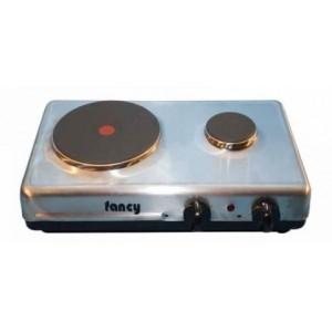 Επιτραπέζια ηλεκτρική εστία 2 ζωνών (2000w/450w) Fancy 0024 inox