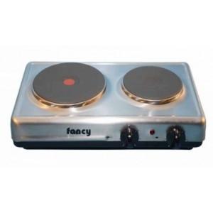 Επιτραπέζια ηλεκτρική εστία 2 ζωνών (2000w/1000w) Fancy 0025 inox