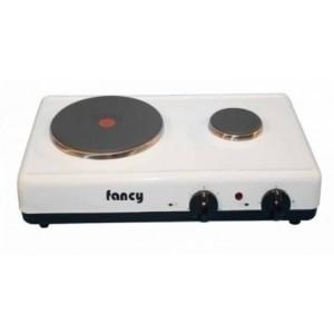 Επιτραπέζια ηλεκτρική εστία 2 ζωνών (2000w/450w) Fancy 0013 λευκή
