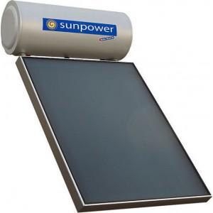 ηλιακός θερμοσίφωνας Maltezos Sunpower EM 160L/3Ε /SAC 130X200 τριπλής ενέργειας