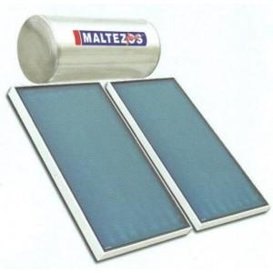 ηλιακός θερμοσίφωνας MALTEZOS GL 160Lt Glass Διπλής Ενεργείας 2 Επιλεκτικοί Συλλέκτες 2 SAC 90x150